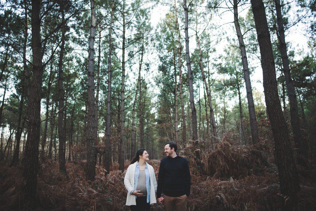 Séance engagement en forêt